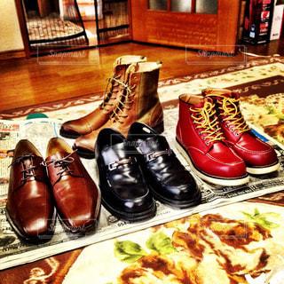 革靴メンテナンスの写真・画像素材[1536490]