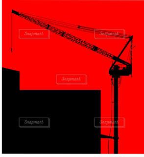 写真加工をした建築現場のクレーンの写真・画像素材[2284054]