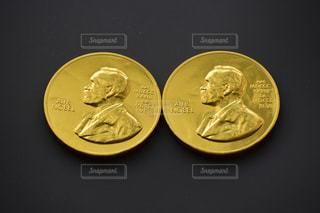 ノーベル賞コインチョコレートの写真・画像素材[2615401]