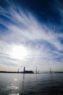 海芝浦駅から見る広い空の写真・画像素材[287621]
