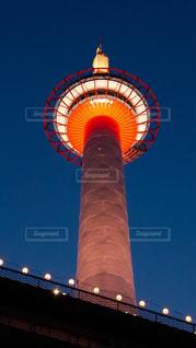 京都タワーの夜景の写真・画像素材[289612]