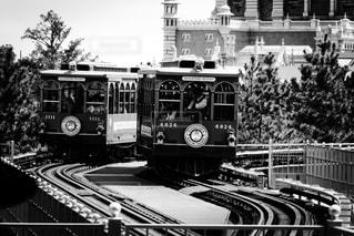 ディズニーシーの高架鉄道の写真・画像素材[291213]