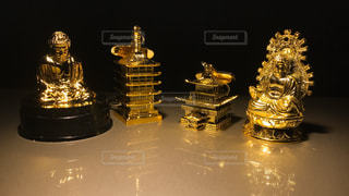 金色のキーホルダー - No.294599