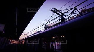 近鉄電車のパンタグラフの写真・画像素材[301224]