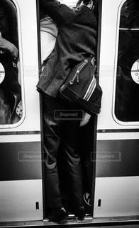 小田急線の朝の通勤ラッシュの写真・画像素材[303131]