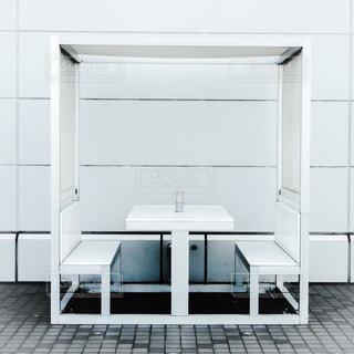 羽田空港展望デッキにあるボックス席の写真・画像素材[304358]