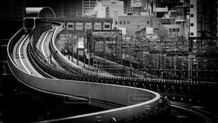都会の新交通システムの写真・画像素材[854290]