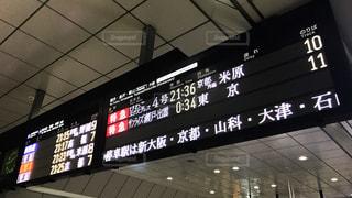 JR大阪駅の行先案内版の写真・画像素材[855251]