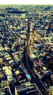 住宅街を走る東急世田谷線の写真・画像素材[857130]