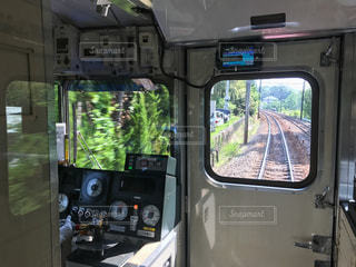 名鉄電車の前面展望の写真・画像素材[858168]