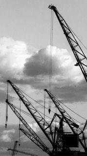 川崎重工のクレーンの写真・画像素材[876404]