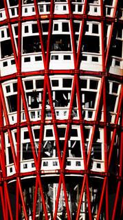 神戸港にある赤いポートタワー - No.877249
