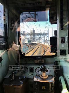 京阪電車の運転台の写真・画像素材[963040]