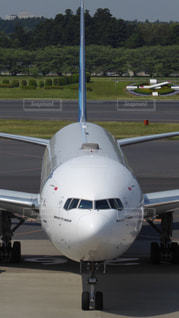 成田空港に到着した飛行機の写真・画像素材[982401]