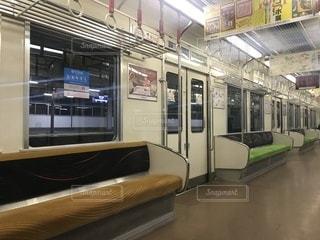 夜の京阪電車の写真・画像素材[988642]