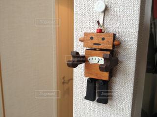 かわいらしいロボットの飾り物の写真・画像素材[1100431]