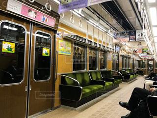 阪急電車の車内の写真・画像素材[1203779]