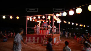 夏の風物詩、盆踊り大会の写真・画像素材[1368445]