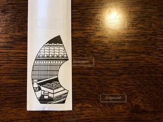 蕎麦屋さんの箸袋の絵がなんともステキで。の写真・画像素材[1458050]