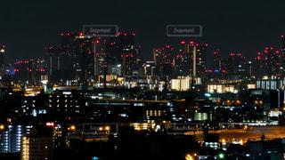 大阪の高層ビル群の夜景の写真・画像素材[1463690]