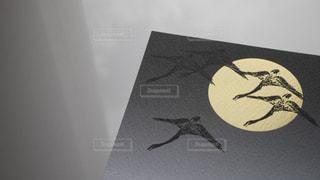 和風な鶴のデザインのポストカードの写真・画像素材[1465587]