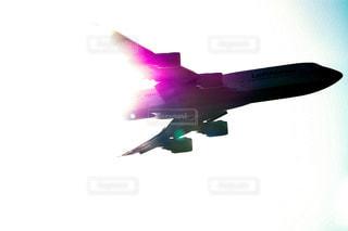 ボーイング747ジェット機のシルエットの写真・画像素材[1569690]