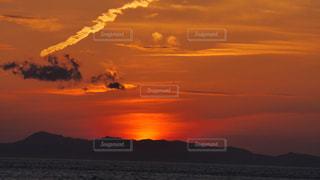 りんくうタウンからの夕焼け空の眺め。の写真・画像素材[1835538]