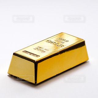 まばゆいばかりの金塊のミニチュアの写真・画像素材[1851866]