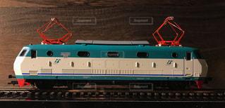 イタリア国鉄の電気機関車の鉄道模型の写真・画像素材[2177843]
