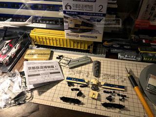 京都鉄道博物館で買ってきた寝台特急の模型を作る。の写真・画像素材[2239845]