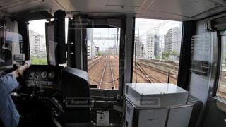 JR神戸線各駅停車の運転席から見た前面展望の写真・画像素材[2274493]