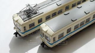 昔、小田急線を走っていた懐かしの2200型電車の鉄道模型の写真・画像素材[2397458]