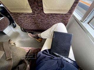 JR快速電車で大阪駅に向かう車内での写真の写真・画像素材[3080698]