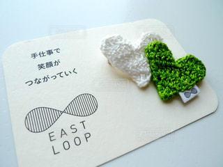 東日本大震災復興支援チャリティグッズのハート型のブローチの写真・画像素材[3101155]