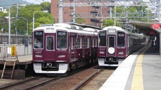 高級住宅地を走る阪急神戸線の写真・画像素材[3128815]