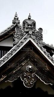京都天龍寺の瓦の写真・画像素材[3877908]
