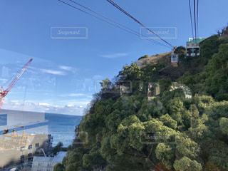 熱海秘宝館へ向かうロープウェイから見た景色の写真・画像素材[1019379]