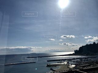 熱海の海沿いホテルから見た景色の写真・画像素材[1019384]