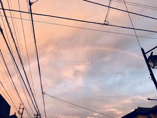 曇り空の虹の写真・画像素材[1019520]