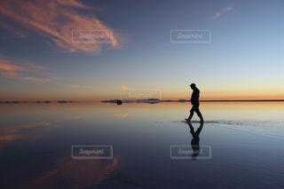 ボリビア ウユニ塩湖の写真・画像素材[284148]