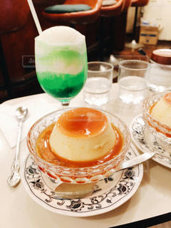 純喫茶コレクション プリンとクリームソーダの写真・画像素材[813937]