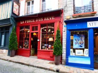 建物,ショップ,赤,かわいい,カラフル,ヨーロッパ,フランス,デザイン,町