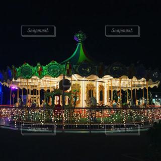 夜の遊園地の写真・画像素材[1119260]