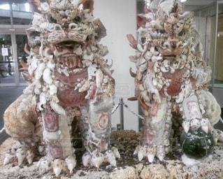 宮古島空港のシーサーの写真・画像素材[285530]