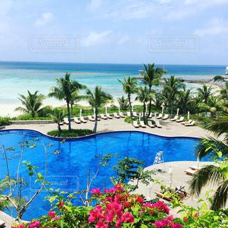 海 ホテル 観光 景色 青空の写真・画像素材[660733]