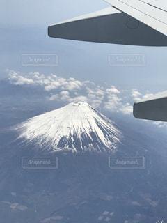 上から富士山の写真・画像素材[1142419]