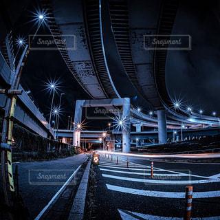 夜のジャンクションの写真・画像素材[3086296]