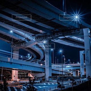 夜のジャンクションの写真・画像素材[3086302]