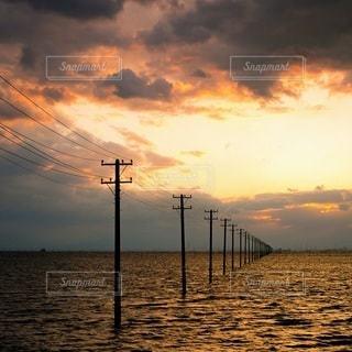 海の夕景の写真・画像素材[3605366]
