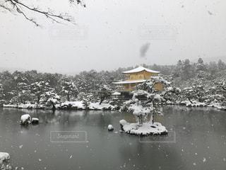 雪の金閣寺の写真・画像素材[871885]